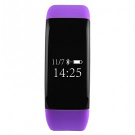 image of V66 HEART RATE MONITOR SMART WRISTBAND ANTI-LOST SEDENTARY REMIND BRACELET (PURPLE) 25.50 x 2.30 x 1.10 cm