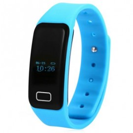 image of X6 HEART RATE MONITOR BLUETOOTH 4.0 SMART WRISTBAND (BLUE) 25.00 x 2.00 x 1.00 cm