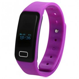 image of X6 HEART RATE MONITOR BLUETOOTH 4.0 SMART WRISTBAND (PURPLE) 25.00 x 2.00 x 1.00 cm