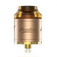 image of ORIGINAL GEEKVAPE PEERLESS RDA WITH SIDE AIRFLOW / DUAL POSTS FOR E CIGARETTE (GOLDEN)