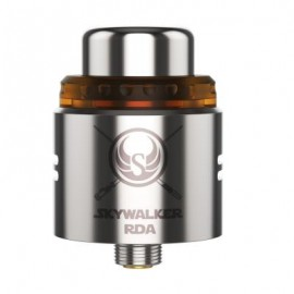 image of ORIGINAL UD SKYWALKER RDA ATOMIZER WITH TWO POSTS DESIGN / SIDE AIRFLOW / SINGLE / DUAL COIL BUILDING FOR E CIGARETTE (SILVER)