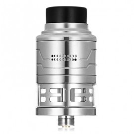 image of ORIGINAL HCIGAR FODI24 RDTA WITH 3ML / SIDE AIRFLOW / DUAL POSTS / 24MM FOR E CIGARETTE (SILVER)