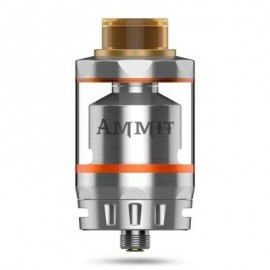 image of ORIGINAL GEEKVAPE AMMIT RTA DUAL COIL VERSION WITH 3ML / 6ML / POSTLESS DECK DESIGN FOR E CIGARETTE (SILVER)