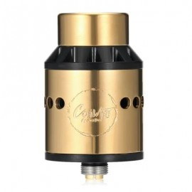 image of ORIGINAL COILART AZEROTH RDA WITH TRIPLE COIL DECK / SIDE AIRFLOW / WIDE BORE DRIP TIP FOR E CIGARETTE (GOLDEN)