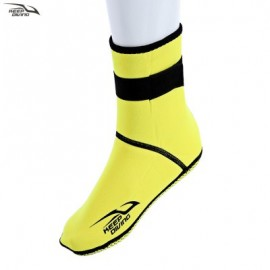 image of KEEPDIVING PAIRED UNISEX KEEP WARM DIVING SOCKS NON-SLIP SWIMMING WETSUITS SNORKELING BOOT (YELLOW) M