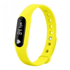 image of B6 BLUETOOTH 4.0 SMART WRISTBAND HEART RATE DETECTION (YELLOW) 22.50 x 1.70 x 1.00 cm