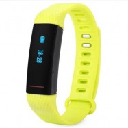 image of BLUETOOTH 4.0 SMART WRISTBAND HEART RATE TRACKER PUSH NOTIFICATIONS BRACELET (GREEN) 25.00 x 1.60 x 1.00 cm