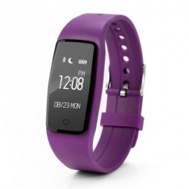 image of S1 HEART RATE MONITOR SMART BRACELET SPORT DATA RECORD GPS TRACKER ANTI-LOST WATCH (PURPLE) 23.00 x 2.00 x 1.00 cm