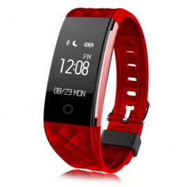 image of S2 SMART BRACELET HEART RATE MONITOR NOTIFICATION GPS SPORT TRACKER REMOTE CAMERA WATCH (RED) 22.00 x 2.00 x 1.00 cm