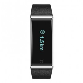 image of QS60 HEART RATE MEASURE SMART WRISTBAND WITH BREATH TRAINING PEDOMETER (BLACK) 24.30 x 2.00 x 1.10 cm