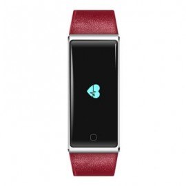 image of QS60 HEART RATE MEASURE SMART WRISTBAND WITH BREATH TRAINING PEDOMETER (RED) 24.30 x 2.00 x 1.10 cm