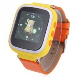 image of 1.44 INCH Q523 CHILDREN GPS SMARTWATCH MTK6261 SOS GPRS REAL-TIME POSITION ALARM TALKBACK PHONE (YELLOW) One Size