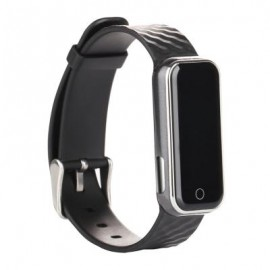image of QS50 HEART RATE MONITOR SMART WRISTBAND SLEEP MANAGEMENT BREATH STATE (BLACK) 23.00 x 2.08 x 0.98 cm