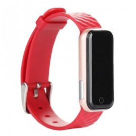 image of QS50 HEART RATE MONITOR SMART WRISTBAND SLEEP MANAGEMENT BREATH STATE (RED) 23.00 x 2.08 x 0.98 cm