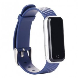 image of QS50 HEART RATE MONITOR SMART WRISTBAND SLEEP MANAGEMENT BREATH STATE (BLUE) 23.00 x 2.08 x 0.98 cm