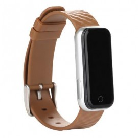 image of QS50 HEART RATE MONITOR SMART WRISTBAND SLEEP MANAGEMENT BREATH STATE (BROWN) 23.00 x 2.08 x 0.98 cm