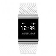 image of X9 PLUS BLE 4.0 HEART RATE SMART WRISTBAND BLOOD PRESSURE OXYGEN MONITOR BRACELET (WHITE) 25.50 x 2.95 x 1.08 cm
