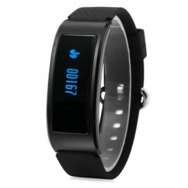 image of DF23 HEART RATE MONITOR SMART WRISTBAND WITH SLEEP TRACK PEDOMETER (BLACK) 23.30 x 2.10 x 1.20 cm