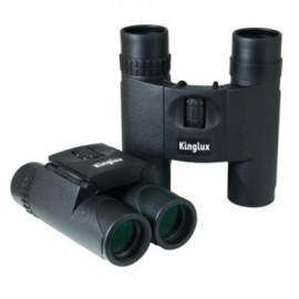 image of KINGLUX OPTICS 10X25MM FULLY RUBBER AMOURED COMPACT BINOCULAR (BLACK) 10.90 x 4.30 x 11.80 cm