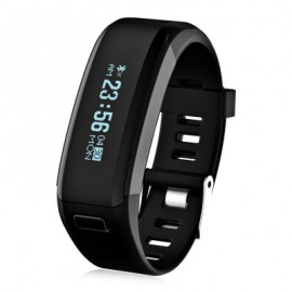 image of F1 HEART RATE SMART WRISTBAND WITH SLEEP MONITORING SEDENTARY REMINDER (BLACK) 22.00 x 2.00 x 1.00 cm