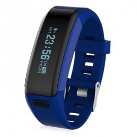 image of F1 HEART RATE SMART WRISTBAND WITH SLEEP MONITORING SEDENTARY REMINDER (BLUE) 22.00 x 2.00 x 1.00 cm