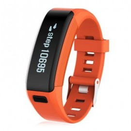image of F1 HEART RATE SMART WRISTBAND WITH SLEEP MONITORING SEDENTARY REMINDER (ORANGE) 22.00 x 2.00 x 1.00 cm