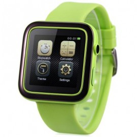 image of ORDRO CK1 SMARTWATCH PHONE MTK2502 ANTI-LOST MUSIC BLUETOOTH PEDOMETER CAMERA IP54 WATER-RESISTANT (GREEN) One Size