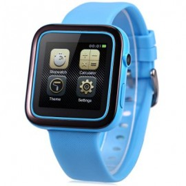 image of ORDRO CK1 SMARTWATCH PHONE MTK2502 ANTI-LOST MUSIC BLUETOOTH PEDOMETER CAMERA IP54 WATER-RESISTANT (BLUE) One Size