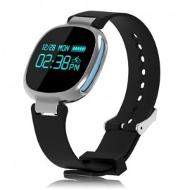 image of E08 BLUETOOTH 4.0 SPORTS SMART WATCH HEART RATE TRACKER (BLUE) 26.00 x 4.00 x 1.00 cm