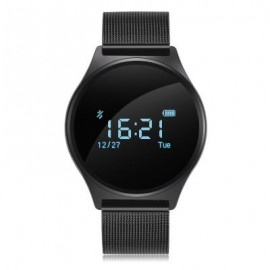 image of M7 BLUETOOTH 4.0 HEART RATE BLOOD PRESSURE SMART WRISTBAND PEDOMETER SEDENTARY REMIND WATCH METAL BAND