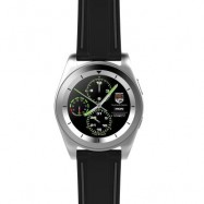 image of NO.1 G6 BLUETOOTH 4.0 HEART RATE MONITOR PSG SMART WATCH (SILVER TPU STRAP / STEEL BAND) 5.55 x 4.50 x 1.00 cm