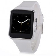 image of X6 SMARTWATCH WITH SLEEP MONITOR AND PEDOMETER (WHITE) 4.56 x 4.13 x 1.25 cm