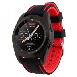 image of NO.1 G6 SMARTWATCH BLUETOOTH 4.0 HEART RATE MONITOR PSG 380MAH BIG CAPACITY BATTERY INTELLIGENT POWER SAVING (RED) STEEL BAND