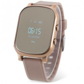 image of T58 CHILDREN SMARTWATCH PHONE 0.96 INCH MTK6261 SOS CALL GPS BLUETOOTH (GOLDEN) 4.50 x 3.50 x 1.30 cm