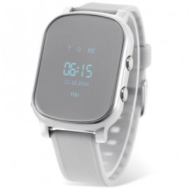 image of T58 CHILDREN SMARTWATCH PHONE 0.96 INCH MTK6261 SOS CALL GPS BLUETOOTH (SILVER) 4.50 x 3.50 x 1.30 cm