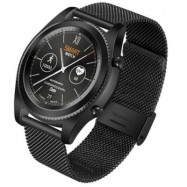 image of NO.1 S9 BLUETOOTH SMARTWATCH HEART RATE MONITOR ACTIVITY TRACKER (BLACK) STEEL BAND