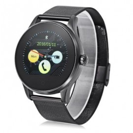 image of K88H BLUETOOTH 4.0 SMART WATCH HEART RATE MONITOR (STEEL BAND + BLACK DIAL) 24.50 x 4.50 x 1.20 cm
