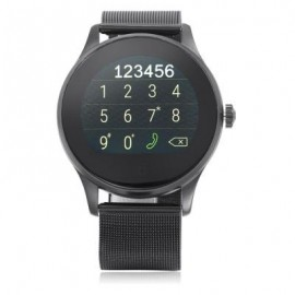 image of K88H BLUETOOTH 4.0 SMART WATCH (STEEL BAND + BLACK DIAL) 24.50 x 4.50 x 1.20 cm
