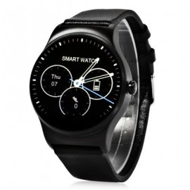 image of SMA - 09 HEART RATE MONITOR SMART WATCH WITH ALARM PHONEBOOK VOICE RECORD (BLACK, STEEL BAND/LEATHER BAND) Steel Band