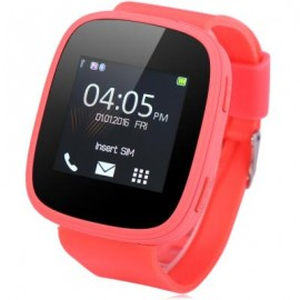 image of S7 1.54 INCH SMARTWATCH PHONE MTK6261 BLUETOOTH SOUND RECORDER HEART RATE MEASUREMENT FUNCTION (WATERMELON RED) US Plug