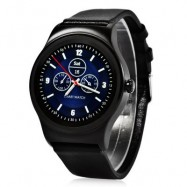 image of SMA - R HEART RATE MONITOR SMART WATCH DUAL BLUETOOTH WRISTBAND (BLACK, STEEL BAND/ LEATHER BAND) Steel Band