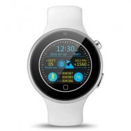 image of AIWATCH C5 1.22 INCH ROUND SCREEN SPORTS SMARTWATCH PHONE MTK2502 REMOTE CAMERA HEART RATE / SLEEP MONITOR IP67 WATER-RESISTANT BLUETOOTH SYNC (WHITE) One Size