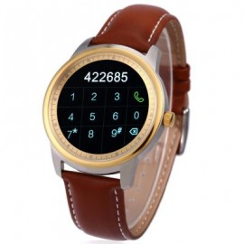 image of DM365 SMART WATCH FOR ANDROID 4.3 / IOS 7.0 BLUETOOTH 4.0 ANTI-LOST CALLS FUNCTION PEDOMETER (GOLDEN) One Size