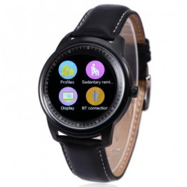 image of DM365 SMART WATCH FOR ANDROID 4.3 / IOS 7.0 BLUETOOTH 4.0 ANTI-LOST CALLS FUNCTION PEDOMETER (BLACK_ One Size