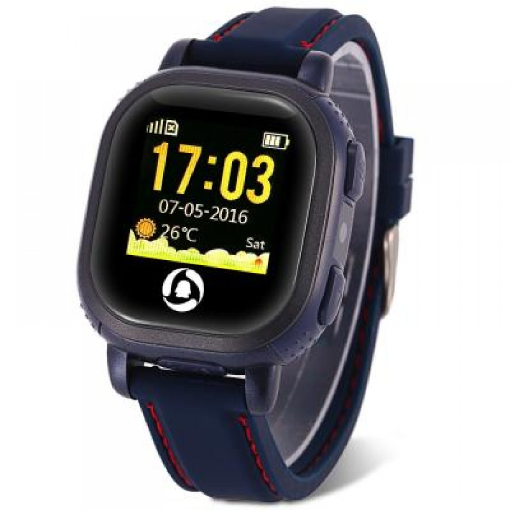 QQ WATCH EUROPEAN EDITION CHILDREN GPS TRACKER SMARTWATCH PHONE CAMERA LBS LOCATION SOS PEDOMETER (DEEP BLUE) 4.60 x 4.20 x 1.30 cm