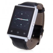 image of D6 1.63 INCH 3G SMARTWATCH PHONE ANDROID 5.1 MTK6580 QUAD CORE 1.3GHZ 1GB RAM 8GB ROM GPS WIFI (SILVER) 5.30 x 3.70 x 1.12 cm