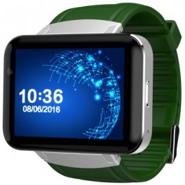 image of DM98 2.2 INCH ANDROID 4.4 3G SMARTWATCH PHONE MTK6572 DUAL CORE 1.2GHZ 4GB ROM CAMERA BLUETOOTH (SILVER AND GREEN) 5.90 x 2.60 x 1.20 cm