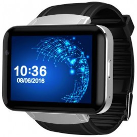 image of DM98 2.2 INCH ANDROID 4.4 3G SMARTWATCH PHONE MTK6572 DUAL CORE 1.2GHZ 4GB ROM CAMERA BLUETOOTH (SILVER AND BLACK) 5.90 x 2.60 x 1.20 cm