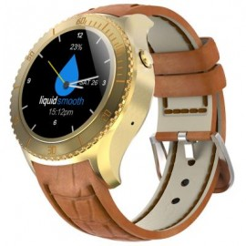 image of I2 1.33 INCH ANDROID 5.1 3G SMARTWATCH PHONE MTK6580 QUAD CORE 1.3GHZ 512MB RAM 4GB ROM HEART RATE (GOLDEN) 4.60 x 4.60 x 1.55 cm