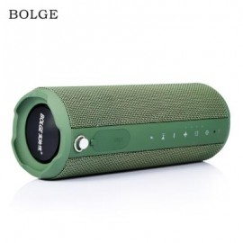 image of BOLGE HS880 PORTABLE BIKE MOUNTING STRAP BLUETOOTH SPEAKER (ARMY GREEN)